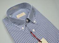 Camicia a maniche corte pancaldi in cotone stampato