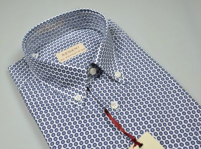 Printed cotton short-sleeved shirt pancaldi