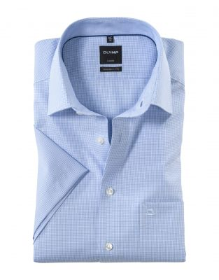Short-sleeved olymp cotton shirt easy modern fit ironing