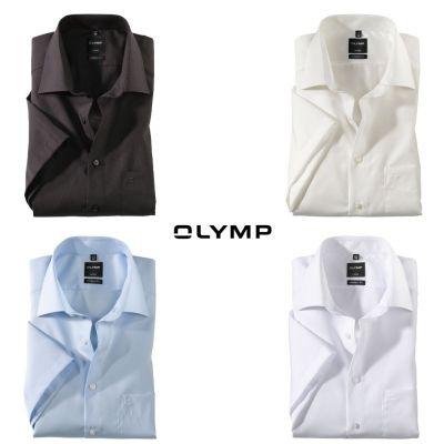 Camicia maniche corte olymp modern fit in cotone no stiro
