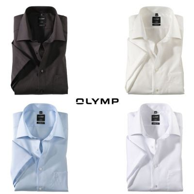 Short-sleeved shirt olymp modern fit cotton no ironing