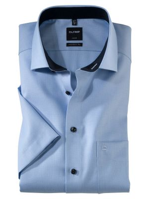Short-sleeved olymp shirt in pure cotton operated no modern fit ironing