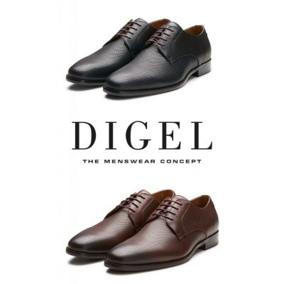 Scarpa business digel in pelle intrecciata