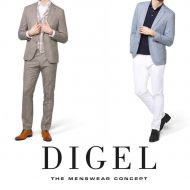 Digel drop jacket six modern fit in viscose stretch
