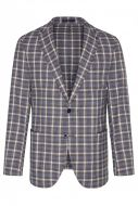 Brown digel cotton and wool checked jacket