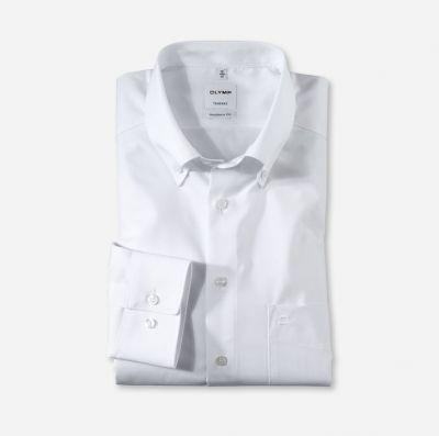 Camicia bianca olymp collo button down con taschino modern fit
