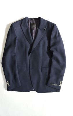 Slim fit blue digel jacket with spear chest in wool blend
