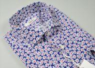 Camicia ingram in cotone stampato con margherita slim fit