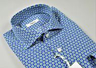 Ingram cotton shirt with blue printed pattern