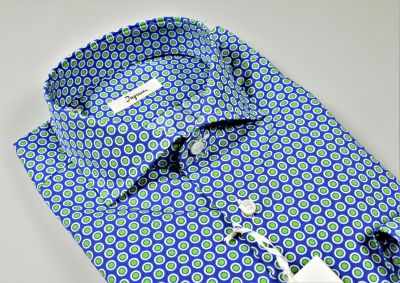 Ingram cotton shirt with blue printed pattern