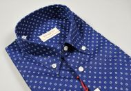 Short-sleeved shirt pancaldi regular fit cotton printed