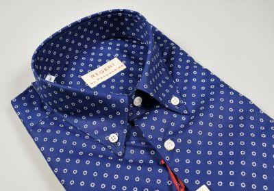 Camicia maniche corte pancaldi regular fit cotone stampato