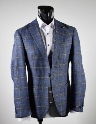 Wool and linen digel jacket unlined drop six modern fit