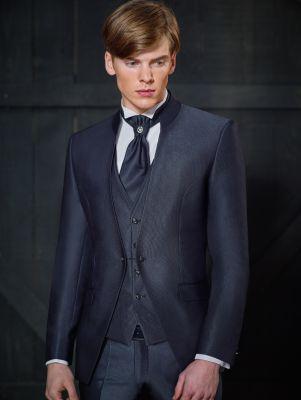 Korean blue groom's dress slim fit