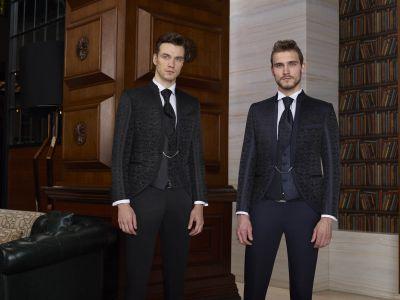 Korean model baggie groom's dress  damask slim fit
