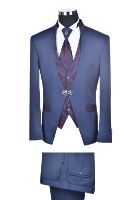 Groom's dress with waistcoat and tie slim fit baggi