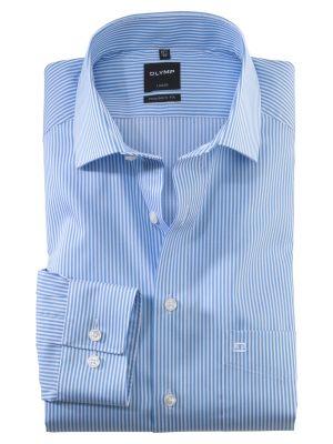 Light celestial striped olymp modern fit shirt