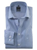 Olymp modern fit shirt with blue stripes