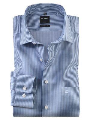Camicia olymp modern fit a righe azzurro