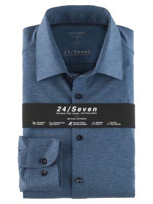 Camicia olymp level five in jersey azzurra slim fit