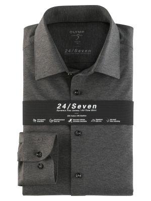 Camicia olymp level five in jersey grigio scuro slim fit