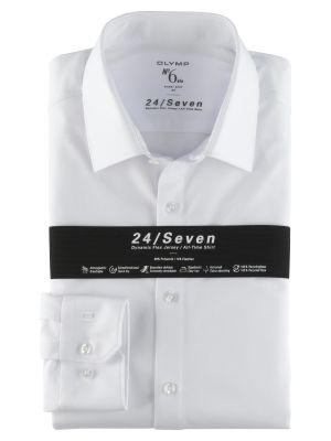 Camicia olymp in jersey bianca super slim fit