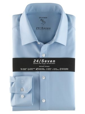 Camicia olymp in jersey celeste super slim fit