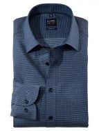 Camicia olymp azzurra con micro disegno slim fit
