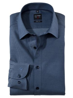Blue olymp shirt with micro slim fit design