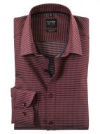 Burgundy olymp shirt with micro slim fit design