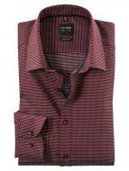 Camicia olymp bordeaux con micro disegno slim fit
