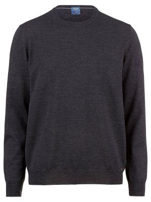 Maglione giro collo olymp in lana pettinata merino extra fine