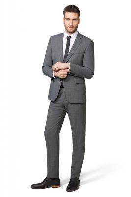 Medium grey digel stretch wool dress drop six modern fit