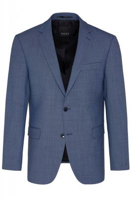 Mid blue digel stretch wool dress drop four short