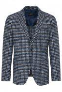 Slim fit digel checked blazer jacket unfurled in jersey