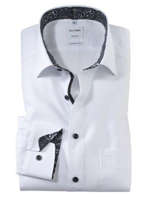 White modern fit olymp cotton shirt easy ironing