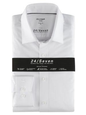 Camicia in jersey bianca olymp modern fit