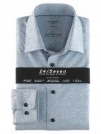 Blue jersey shirt olymp modern fit
