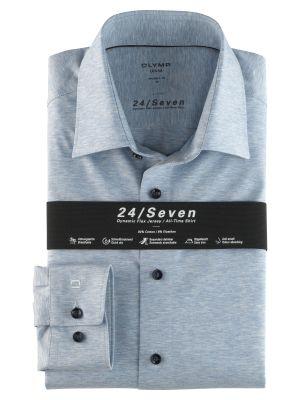 Camicia in jersey celeste olymp modern fit