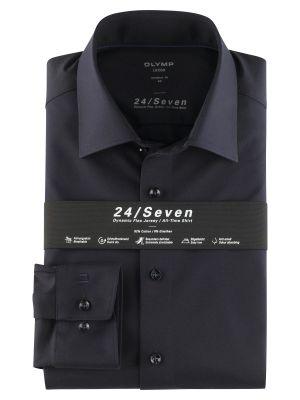 Camicia in jersey blu scuro olymp modern fit