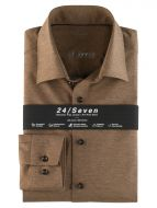 Camicia in jersey marrone olymp modern fit