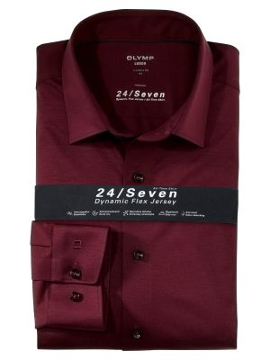 Camicia in jersey bordeaux olymp modern fit
