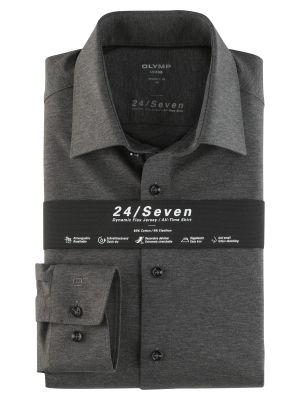Dark grey jersey shirt olymp modern fit