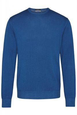 Modern fit merino wool neck sweater