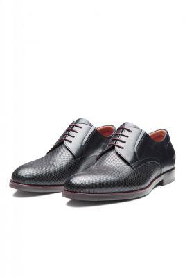 Digel blue derby shoe in woven leather