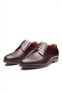 Brown digel derby shoe in braided leather