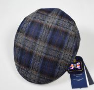 Panizza cap  blue patterned British plaid