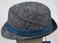 Cappello moda trilby panizza fantasia a quadri