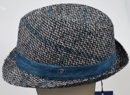 Trilby fashion hat panizza plaid pattern