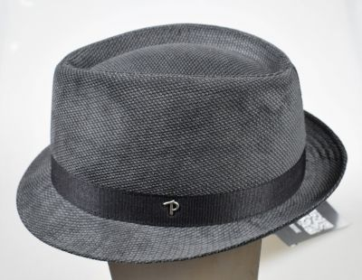 Trilby panizza fashion hat in blue and gray